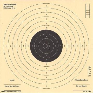 Εικόνα της Στόχοι για αεροβόλα τυφέκια και πιστόλια
