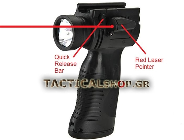 tacticalextreme - Tactical Grip Flash Light  amp  Red Laser ed11d3f2f71