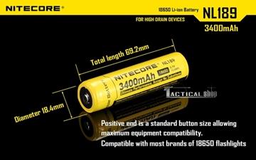 Εικόνα της Επαναφορτιζόμενη μπαταρία Nitecore Li-on 18650 3400mAh
