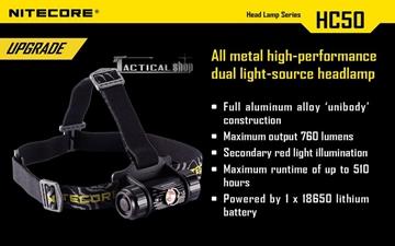 Εικόνα της Φακός Κεφαλής Led Nitecore Headlamp HC50