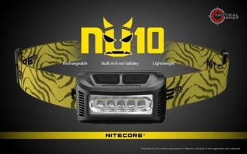Εικόνα της Επαναφορτιζόμενος Φακός Κεφαλής Led Nitecore NU10