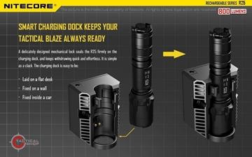 Εικόνα της Επαναφορτιζόμενος Φακός Led Nitecore KIT R25 800 Lumens