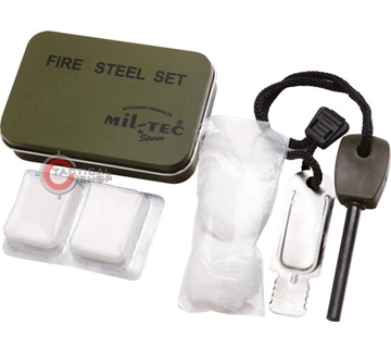 Εικόνα της Σπινθηριστής Σετ Mil-Tec Fire Starter Flints Steel