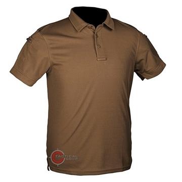 Εικόνα της Μπλουζάκι Polo Αντιιδρωτικό Mil-Tec Quick Dry Μπεζ Σκούρο