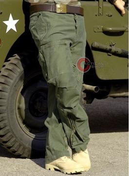 Εικόνα της Παντελόνι Vintage Mil-Tec Pilot Cargo Χακί