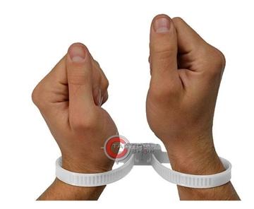 Εικόνα της Χειροπέδες Πλαστικές Άσπρες
