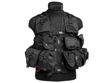 Εικόνα της Γιλέκο Μάχης Μαύρο Mil-Tec Vest Tactical 9 Pockets