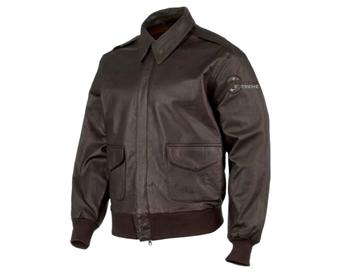 Εικόνα της Μπουφάν Vintage Leather Flight Jacket Α2 Air Corps Dark Brown