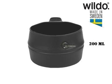 Εικόνα της Πτυσσόμενο Ποτήρι Φλιτζάνι 200 ml Wildo Fold-A-Cup Μαύρο