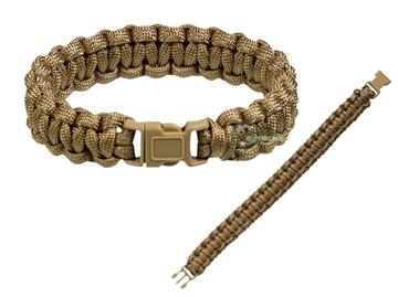 Εικόνα της Βραχιόλι Επιβίωσης Mil-Tec Paracord Bracelet 15mm Coyote