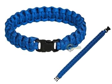 Εικόνα της Βραχιόλι Επιβίωσης Mil-Tec Paracord Bracelet 15mm Blue