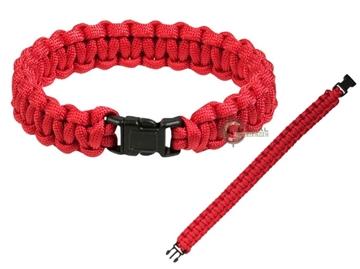 Εικόνα της Βραχιόλι Επιβίωσης Mil-Tec Paracord Bracelet 15mm Κόκκινο