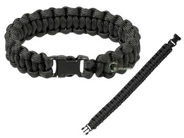 Εικόνα της Βραχιόλι Επιβίωσης Mil-Tec Paracord Bracelet 15mm Μαύρο