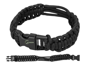 Εικόνα της Βραχιόλι Επιβίωσης Mil-Tec Paracord Bracelet Μαύρο