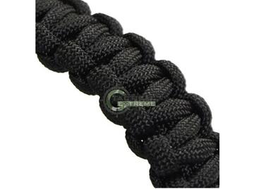 Εικόνα της Βραχιόλι Επιβίωσης Mil-Tec Paracord Bracelet 22mm Μαύρο