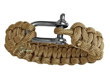 Εικόνα της Mil-Tec Paracord Bracelet Metal Clip 15mm Coyote