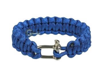Εικόνα της Mil-Tec Paracord Bracelet Metal Clip 15mm Blue