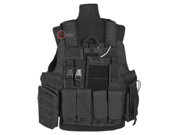Εικόνα της Mil-Tec Γιλέκο Μάχης Ταχείας Combat Vest Quick Release Μαύρο