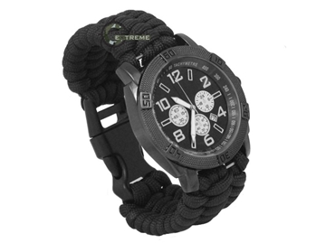 Εικόνα της Mil-Tec Watch Paracord Bracelet Black