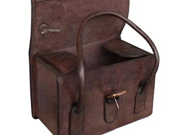 Εικόνα της Τσάντα Vintage 100% δέρμα Buffalo Brown