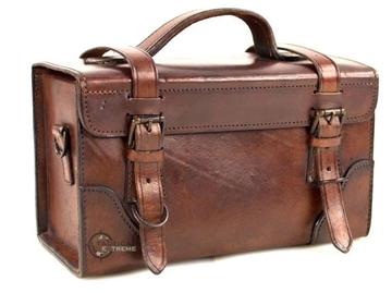 Εικόνα της Vintage Δερμάτινη Τσάντα με Ιμάντα Ώμου 100% δέρμα Buffalo Brown