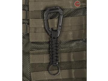 Εικόνα της Μπρελόκ Κλειδοθήκη Keyholder Paracord Μαύρο