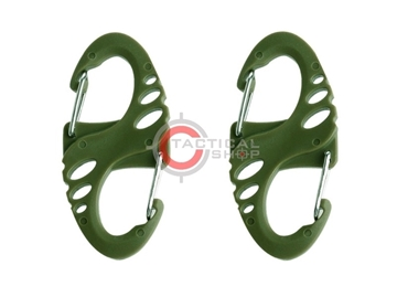 Εικόνα της Tactical Mini Carabiner S Type ABS Χακί