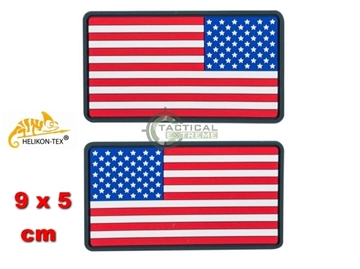 Εικόνα της Helikon Velcro PVC Patch USA Large Flag Set - 2pcs