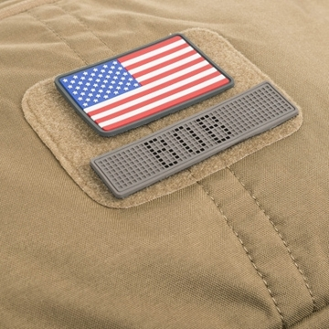 Εικόνα της Helikon Velcro PVC Patch USA Large Flag Grey Set - 2pcs