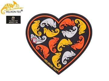 Εικόνα της Helikon Velcro PVC Patch Heart Black