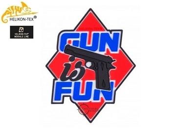 Εικόνα της Helikon Velcro PVC Patch Gun is Fun Red