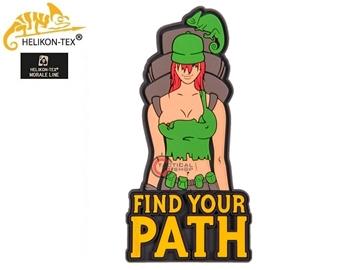 Εικόνα της Helikon Velcro PVC Patch Find Your Path Olive Green