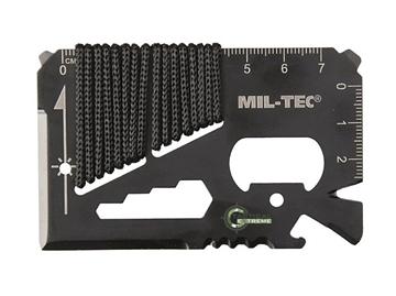 Εικόνα της Κάρτα Επιβίωσης Mil-Tec Paracord Survival Tool Card Μαύρη