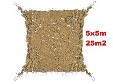 Εικόνα της Coyote Δίχτυα Σκίασης 5x5 m με αρτάνι και συρματόσκοινο περιμετρικά