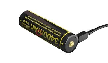 Εικόνα της Επαναφορτιζόμενη Μπαταρία Nitecore 18650 Micro USB