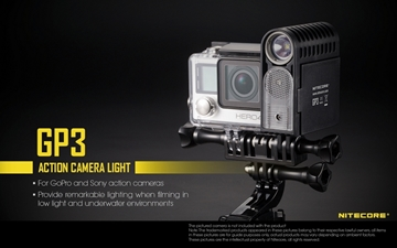 Εικόνα της Φακός για Action Camera GoPro and Sony Light Nitecore