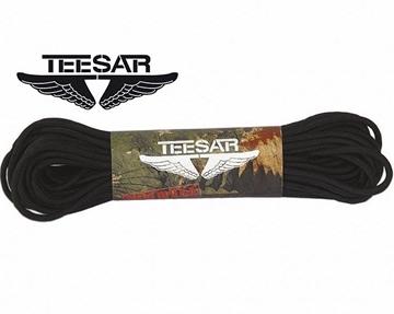 Εικόνα της Teesar paracord 550 Μαύρο 4 mm 15 μέτρα