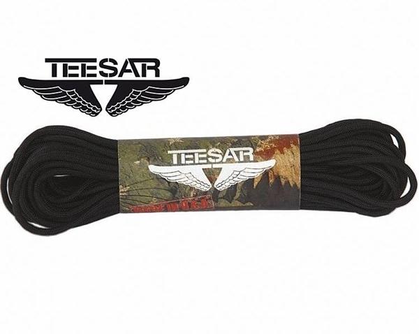 Picture of Teesar paracord 550 Μαύρο 4 mm 15 μέτρα