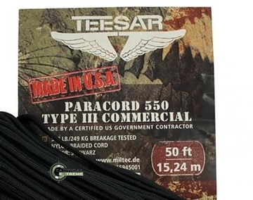 Εικόνα της Teesar Paracord 550 Πορτοκαλί 4 mm 15 μέτρα