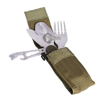 Εικόνα της Σετ Κουταλομαχαιροπίρουνο Mil-Tec Eating Utensil W. Pocket Knife