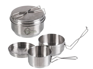 Εικόνα της Mil-Tec Czech Stainless Steel Mess Kit