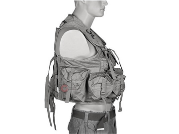 Εικόνα της Γιλέκο Μάχης Mil-Tec Vest Tactical 9 Pockets Vegetato Woodland