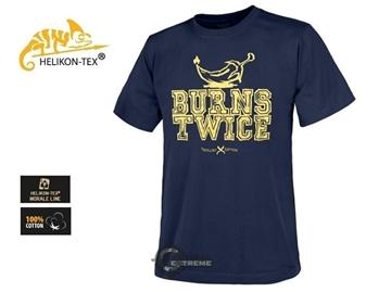 Εικόνα της Helikon T-Shirt Trollsky Burns Twice Cotton Navy Blue
