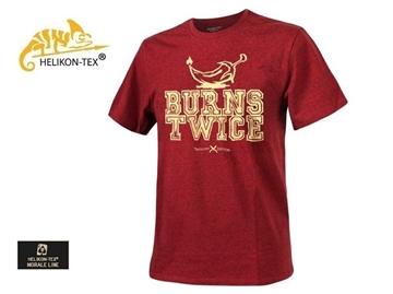 Εικόνα της Helikon T-Shirt Trollsky Burns Twice Cotton Melange Red