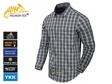 Εικόνα της Πουκάμισο Helikon Covert Concealed Carry Shirt Foggy Grey Plaid