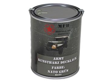 Εικόνα της Nato Green Ματ Βαφή Συνθετικής Ρητίνης Army Varnish 1L