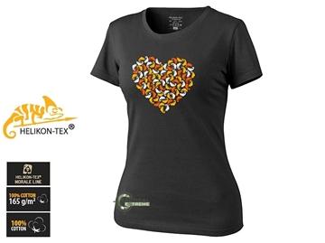 Εικόνα της Γυναικείο T-Shirt Βαμβακερό Chameleon Heart Μαύρο