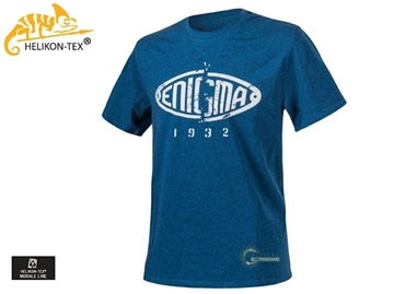 Εικόνα της T-Shirt Enigma Melange Blue