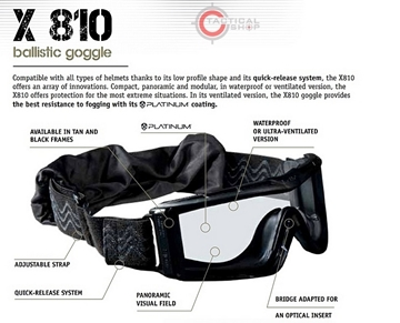 Εικόνα της Bolle Mask X810 Tactical Goggles Black