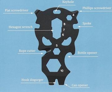 Εικόνα της Roxon Multi Tool 9 in 1 Black